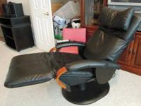 Interactive Health Black Leather Massage Chair!