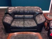 nice black sofa and love seat. bought for just over
