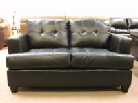 LEATHER Sofa & Loveseat - BLACK. Won't Last ......