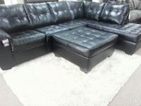 New Bonded Leather Sectional **Ottoman is available for