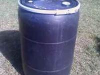 I have 3 black 55 gal. barrels that have a locking lid.