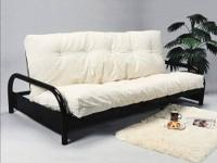 Black metal futon frame similar to the one in the
