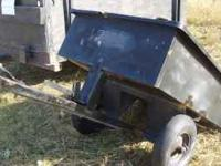 3' by 4' garden trailer, ideal for pulling behind a