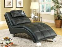 Manhattan Chaise * Wrapped in a durable leather- like