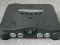 Black Nintendo 64 lightly used (by adults) + 9 great