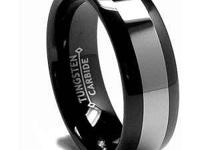 Black-plated Tungsten Carbide Comfort Fit Band (8 mm)