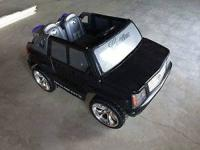 Black power Wheels Escalade for sale.. excellent