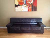 I am selling a REAL Black leather sofa/couch for $200
