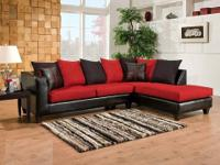 Delta Sectional * Multi colored loose back pillows. *