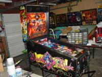 This is a very nice Black Rose pinball machine that was