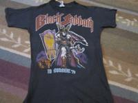Black Sabbath 1978 tour original t -shirt in support of