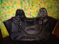 Classy Black simulated Leather Purse Looks and feels