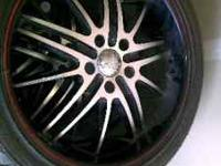 I have some Acura rims black with red rim I'm willing