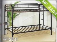 Black Twin Bunk Bed starting at $149.00/Brand new in
