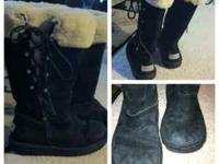 Hi I am selling my gently used ugg boots they are black