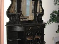 Black Victorian Etergare Dresser Cabinet 1850 est.