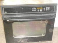Black wall oven 250.00 CASH ,,Black Glass Gas Cooktop