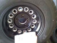 Like new, 15x9 inch, 5 lug, 4-1/2 inch bolt pattern.