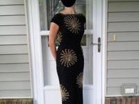 Elegant and shapely Gene Shelly's black, 100% wool