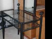 Black Wrought Iron Sunburst Design Vanity, perfect