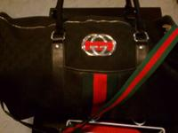 This posting is for a Gucci print duffle bag, comes