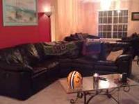 I have a black leather couch L-shape both ends are