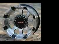 I have a set of 16x8 moto metal 955 rims.They are 8 lug