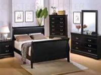 Brand new cherry or black sleigh bed suite. set