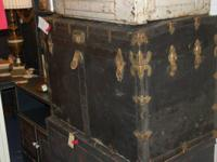 For sale: Antique trunk with tray. Presently priced at