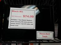 Black Wii System! $74.99. 100 % Guaranteed with a 1