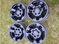 Blacked out stock Toyota 16'' rims Great set for spares