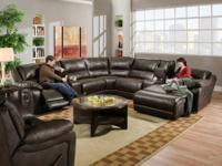 BlackJack Cocoa Sectional by Simmons * Large over-sized