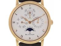 Gents Blancpain Villeret. 18k rose gold 38mm case with