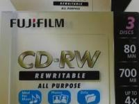 Fuji CD-RW80 Rewritable ALL PURPOSE (80 minutes/700mb,