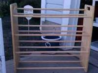 For sale is a blanket/ towel rack call chad for