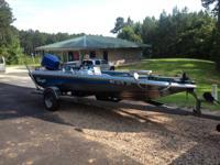 Blazer Bass Boat runs good 2 new batteries, new led low