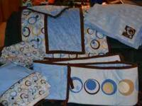 George Baby - Uptown 5-Piece Crib Bedding Set, Blue