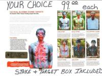 BLEEDING ZOMBIE TARGETS. SALE $75. Fulled of paint
