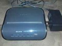 Belkin Wireless G Router with 4 wire ports also.