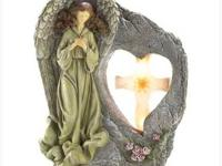 #14643 Blessed Cross Solar Light Bless your garden with