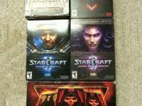 I have warcraft 3 with expansion, diablo 2 with