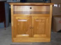 "I have a blond wood cabinet that is 19 3/4"" deep, 29"