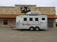 Hard to find used 2009 Bloomer 3 Horse, Bumper Pull, 8