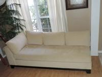 Here is a Stunning Tufted Light Microfiber Fabric Sofa
