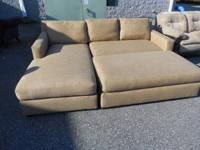 ACQUIRE THIS SECTIONAL SOFA MADE BY BLOOMINGDALES AT