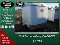 2014 Carry-on Carry-On CO-5X8  ...  $ 1,799   View