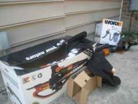 I have a WORX electric vacuum it is blower,vacuum