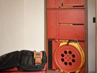 Retrotec Q5E Door Fan System (Blower Door), very gently