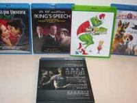 4 BLURAY DVD'S FOR SALE. $6.00 EACH OR 2 FOR $10.
