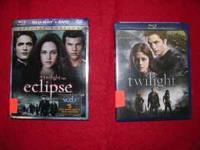 Blu-ray movies Eclipse,Twilight in excellent